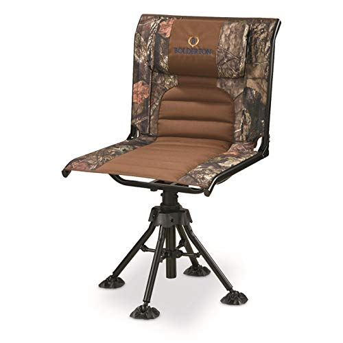Bolderton 360 Comfort Swivel Camo Hunting Chair, Mossy Oak Break-Up Country, Mossy Oak Country Camo (Camoflauge Nfl)