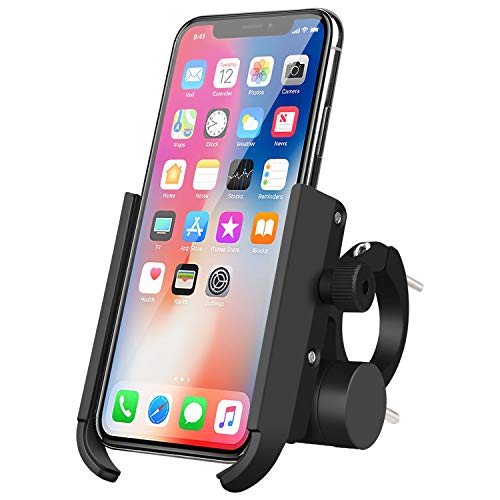 Tsuinz 2 in 1 Bike Motorcycle Phone Mount 3350 mAh Power Bank Aluminum Bicycle Cell Phone Holder Handlebar, 360 Adjustable Fit for iPhone 11 Pro Max XS Max 8 8p Galaxy Note 10 Pro 10 S10 S9
