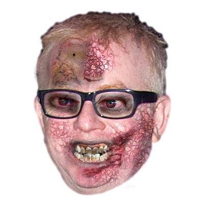 Celebrity Cutouts Zombie Chris Evans (Radio 2) Mask, Halloween, Fancy Dress, Party ()