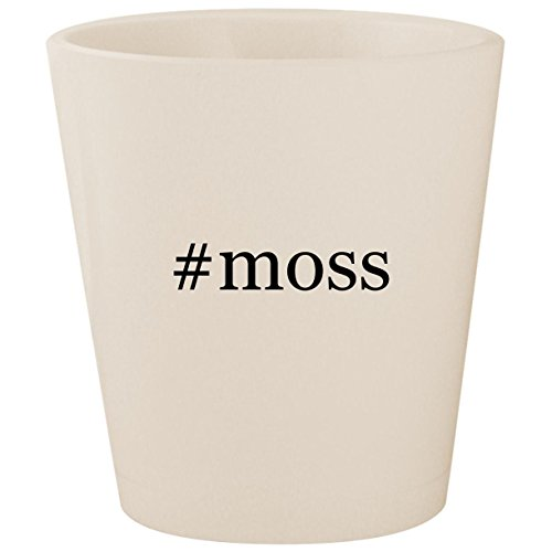 #moss - White Hashtag Ceramic 1.5oz Shot Glass for sale  Delivered anywhere in USA