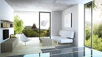 Komplettset Infrarot Heizfolie Elektro Fu/ßbodenheizung Set 160 W pro m/² effizient und kosteng/ünstig Heizen f/ür Neubau oder Altbau-Sanierung 9,0m2