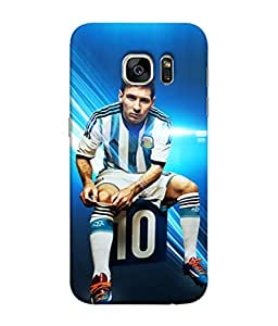 ColorKing Football Messi Argentina 06 Blue shell case cover for Samsung S7 Edge