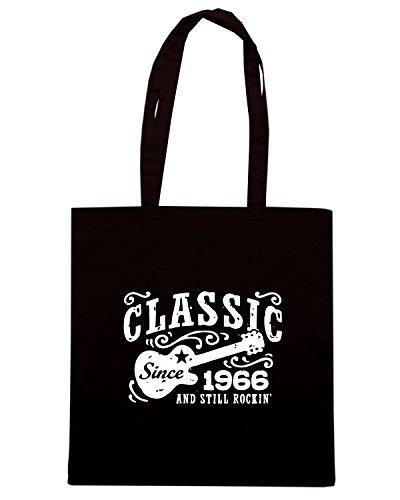 T-Shirtshock - Bolsa para la compra OLDENG00446 classic since 1966 Negro