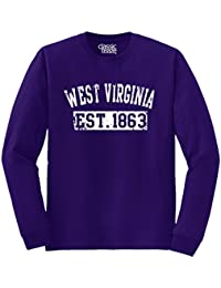 West Virginia State USA American Gift Printed Tee Shirt Gift Ideas Long Sleeve T