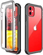 Wepro iPhone 11 Case, 360° Protection Full Body Clear Cover Built-in Screen Protector Shockproof Anti-Scratch Rugged Bumper Case for iPhone 11 (Black/Clear)