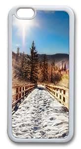 Aspen Trail Winter Custom iPhone 6 Case Cover TPU White