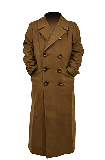 free delivery top brands durable modeling Yewei Boys Khaki Faux Suede Trench Coat Double Breasted Overcoat Halloween  Costume