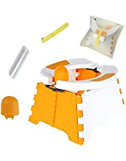 Potty Training Seat,Baby Toilet Travel,Foldable Training Seat,Toddler Toilet Seat for Indoor and Outdoor,Five Piece Set