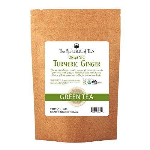 Buy Republic Tea - The Republic Of Tea Organic Turmeric Ginger Green Tea, 250 Tea Bags, Gourmet Green Tea And Turmeric Tea