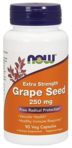 NOW Grape Seed 250 mg,90 Veg Capsules