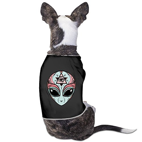 Alien Dog Costumes (Alien Retro Triangle Eyes Small Dogs SoftCute Tank Tops Costumes)
