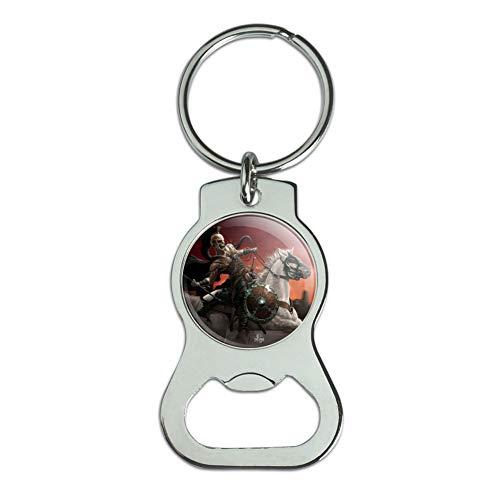 (Graphics and More Dark Undead Skeleton Warrior Rider Fantasy Bottle Cap Opener Keychain Key Ring)