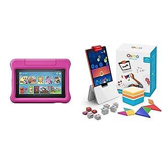 Fire 7 Kids Edition Tablet + Osmo Genius Kit Bundle (Pink)