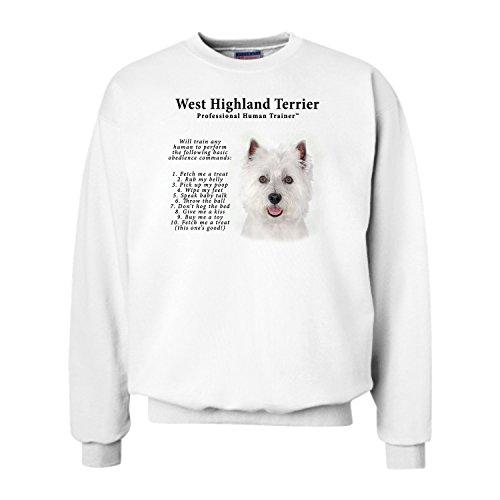 West Highland Terrier Westie Trainer (West Highland Terrier Westie Human Trainer Adult Sweatshirt - 3XL)