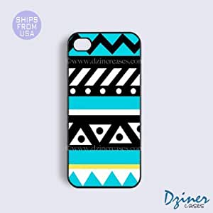 Case Cover For Ipod Touch 4 Tough Case - model - Turquoise Cute Aztec