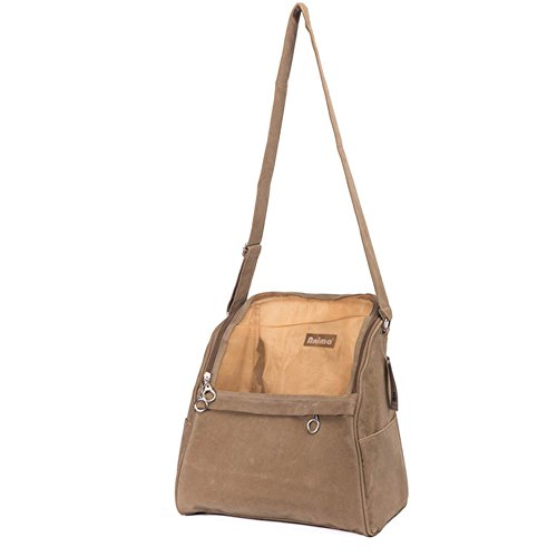 Suede Dog Carrier (Betop House Pet Dog Suede Sling Bag Carrier Purse Tan)
