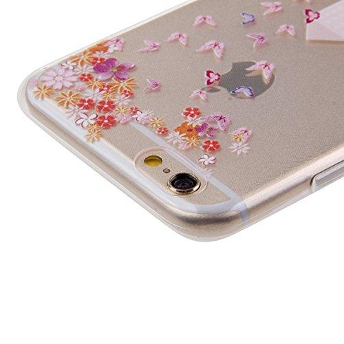 Funda para iPhone 6 Plus, funda de silicona transparente para iPhone 6 Plus, iPhone 6s Plus Silicona Funda Soft Carcasa Slim, iPhone 6 Plus / 6S Plus Silicone Case Protective Cover Skin Shell Carcasa  Chica Motoring