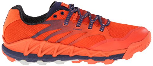 Merrell Mens All Out Peak Trail Running Shoe Piccante Arancione / Aura Astrale