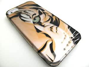 TIGER Hard Plastic Design Matte Case for Apple iPhone 5 [In Twisted Tech Retail Packaging]
