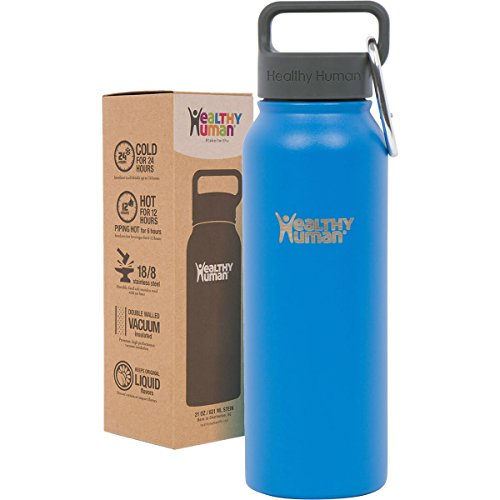 Healthy Human 21 oz Water Bottle - Cold 24 Hrs, Hot 12 Hrs.
