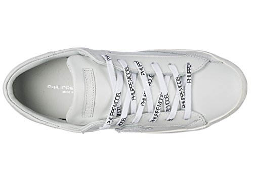 Modèle Chaussures Hommes Philippe Chaussures Pour Hommes En Cuir Blanc Sneakers Paris