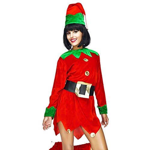 [Veroman Women's Christmas Santa's Costume (Elf)] (Womens Christmas Elf Costume)