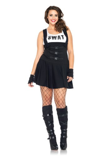 Sultry SWAT Officer Adult Costume - Plus Size 3X/4X