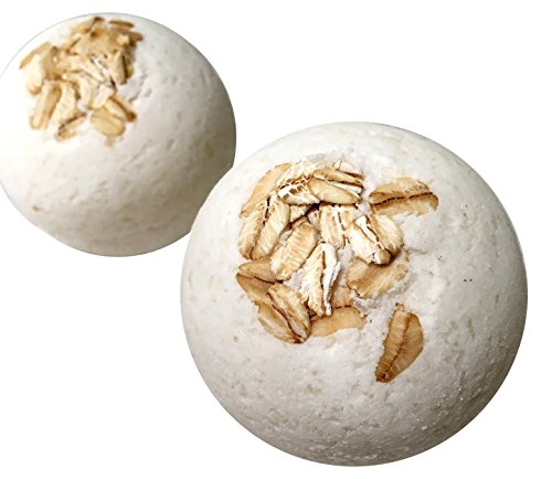 Char's Golden Goods Colloidal Oatmeal Bath Bombs, (Pack of 4)