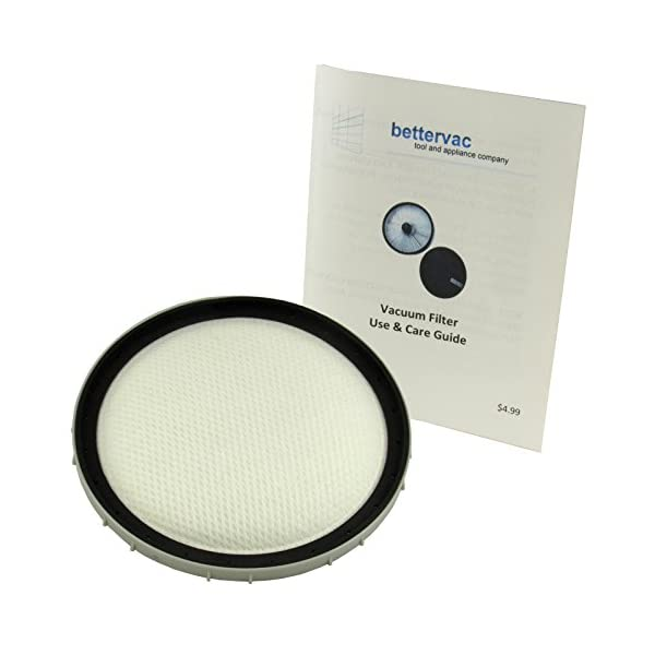 Bissell Powergroom Multi-Cyclonic & Hard Floor Expert Canister Washable Filter #1605295 Bundled With Use & Care Guide