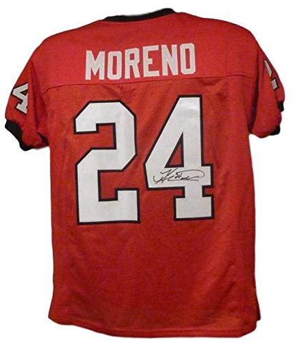 Knowshon Moreno Signed Jersey - Red XL 12487 - Autographed College Jerseys