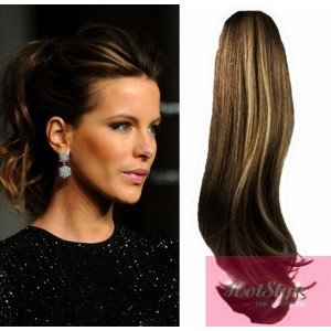 HOTstyle - Clip in human hair ponytail wrap hair extension 20