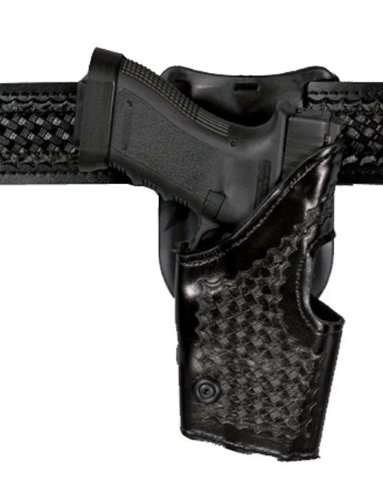 Safariland Model 2955 1.5-Inch Drop Level II Retention Holster, Low-Ride, Black, Basketweave, Right Hand Glock 17, 19, 22, 23, 31