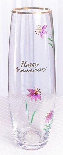 Fenton Artglass Happy Anniversary Bud Vase