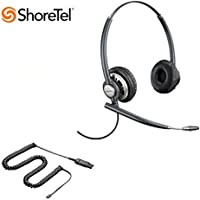 ShoreTel Compatible Plantronics EncorePro 720 HW720 Ultra Noise-Canceling VoIP Headset Bundle for ShoreTel IP Phones: IP 420, 480, 480G, 485