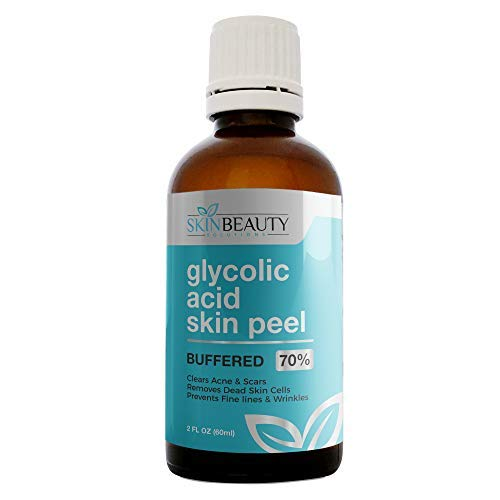 Glycolic Acid Black Heads - GLYCOLIC Acid 70% Skin Chemical Peel - BUFFERED - Alpha Hydroxy (AHA) For Acne, Oily Skin, Wrinkles, Blackheads, Large Pores,Dull Skin... (4oz/120ml)