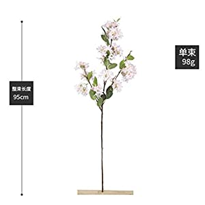 Skyseen 3Pcs Lilac Silk Flower Artificial Syringa Linn Arrangement,White 4