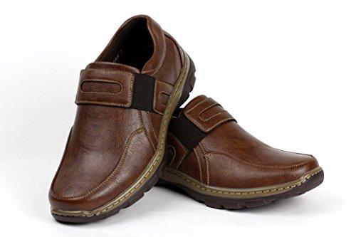 Casual Ufficio da da Infilare Uomo da da Lavoro Mocassini Comfort Scarpe Classiche Elegante Marrone nI41aqB