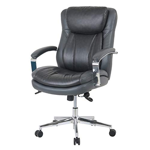 LCH Big and Tall High Back Leather Office Chair with Adjustable Tilt Angle - Computer Desk Chair with Thick Padding for Comfort and Ergonomic Design for Lumbar Support - 400lbs