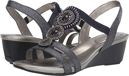 Bandolino Womens Hartley Wedge Sandal Storm 6 M