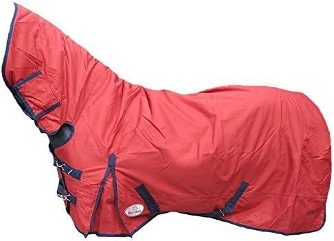 Best On Horse Manta pesada impermeable y transpirable de invierno para caballos, ponis, equitación, Berry Red, UK 5'0 / EU 105cm / 60