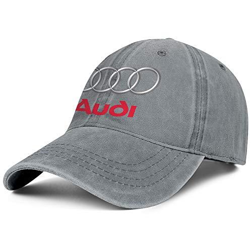 - Audi-Logo- Mens Womens Washed Baseball Cap Adjustable Snapback Dad Hat