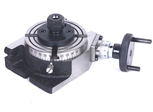 4″ Inch/ 100 mm Rotary Table with ER-16 Collet Adapter for Milling Machines+ Fixing Tnuts Bolts