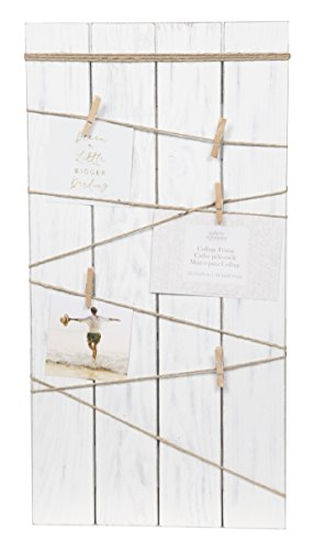 Gallery Solutions 12X24 Whitewash Plank Clip/String, White ()