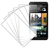 HTC One M7 Screen Protector Cover, MPERO 5 Pack of Invisible Screen Protectors for HTC One M7