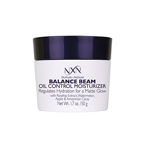 NxN Balance Beam Oil Control Gel Cream Face Moisturizer, Natural and Organic Anti Aging Formula for Oily or Combination Skin, Men and Women, 1.7 Oz