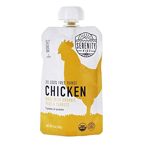Serenity Kids, Chicken Free Range with Peas Carrots, 3.5 Ounce