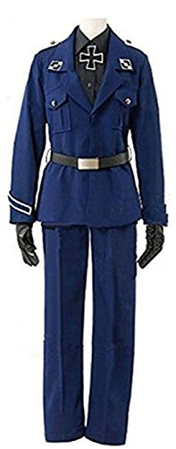 Vicwin-One Anime Prussia Gilbert Military Uniform Army Outfit Cosplay Costume (Male L) ()
