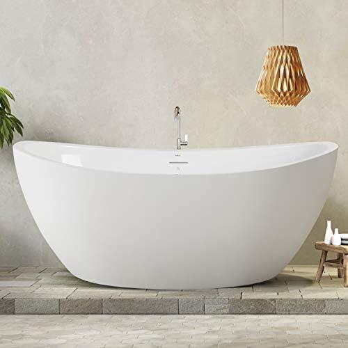 "Ferdy Naha 67""x31"" Acrylic Freestanding Bathtub"
