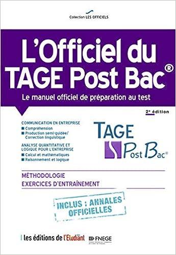 l'Officiel du Tage Post Bac - Le manuel officiel de préparation au test 2e édition