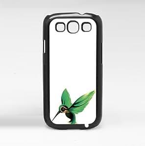 Green Hummingbird on White Background Hard Snap on Phone Case Hard Snap on Phone Case (Galaxy s3 III)